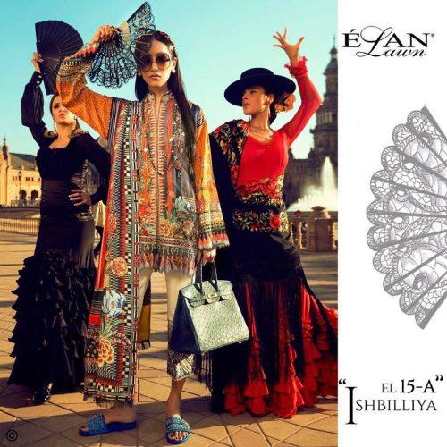 Elan Summer Lawn Shalwar Kameez Collection 2017 5