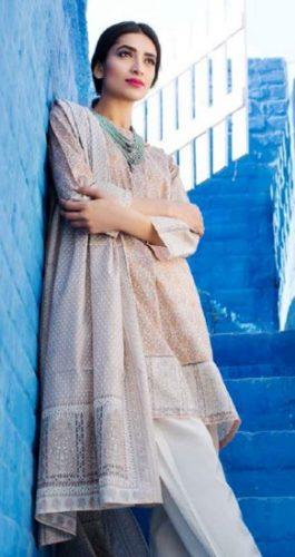 Khaadi 2 Piece Summer Formal Lawn Dresses 2017 5
