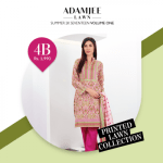 Adam Jee Casual Printed Lawn Shalwar Kameez Collection 2017 3