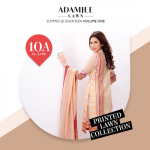 Adam Jee Casual Printed Lawn Shalwar Kameez Collection 2017 4