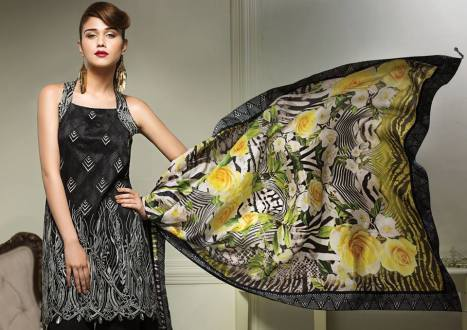 Anaya Eid Luxury Lawn Modern Dresses Collection 2017 12