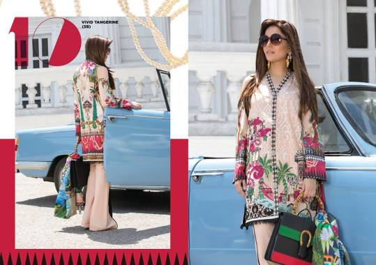 Crimson Eid Lawn Festive Season Dresses 2017 10