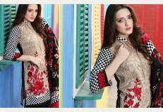 Floss Embroidered Luxury Lawn Shalwar Kameez Vol-2 2017 5