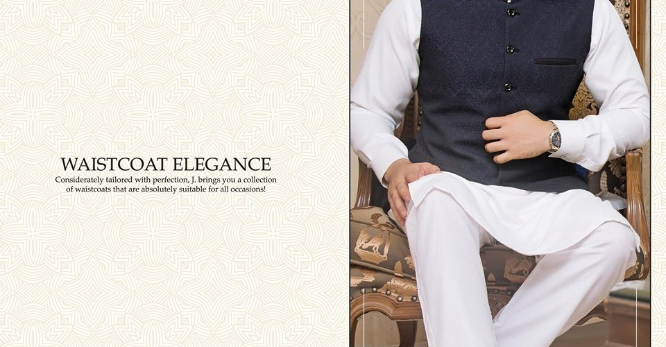 Junaid Jamshed Eid Waistcoat Collection 2017