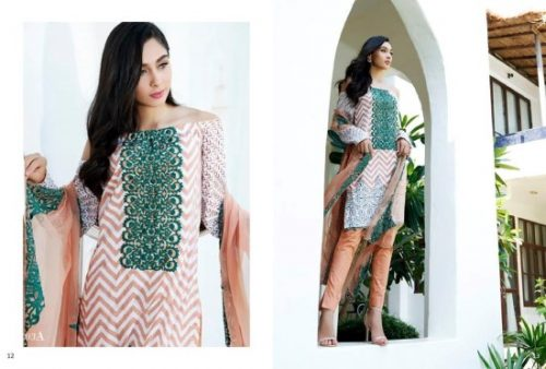 Mahnoor Embroidered Eid Casual Lawn AlZohaib 2017