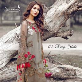 Serene Royal Chiffon Eid Dresses Summer Collection 2017 2