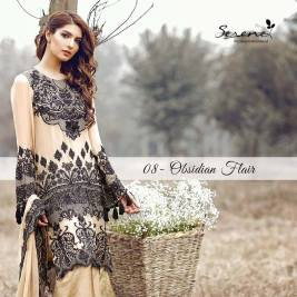 Serene Royal Chiffon Eid Dresses Summer Collection 2017 7
