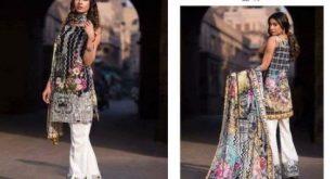Eid Ul Fitr Semi-Formal Dresses Summer Designs Firdous Cloth Mills 2017