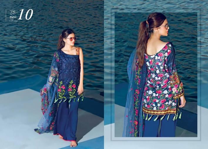 Kalyan Digital Eid Lawn By ZS Textiles 2017 With Price