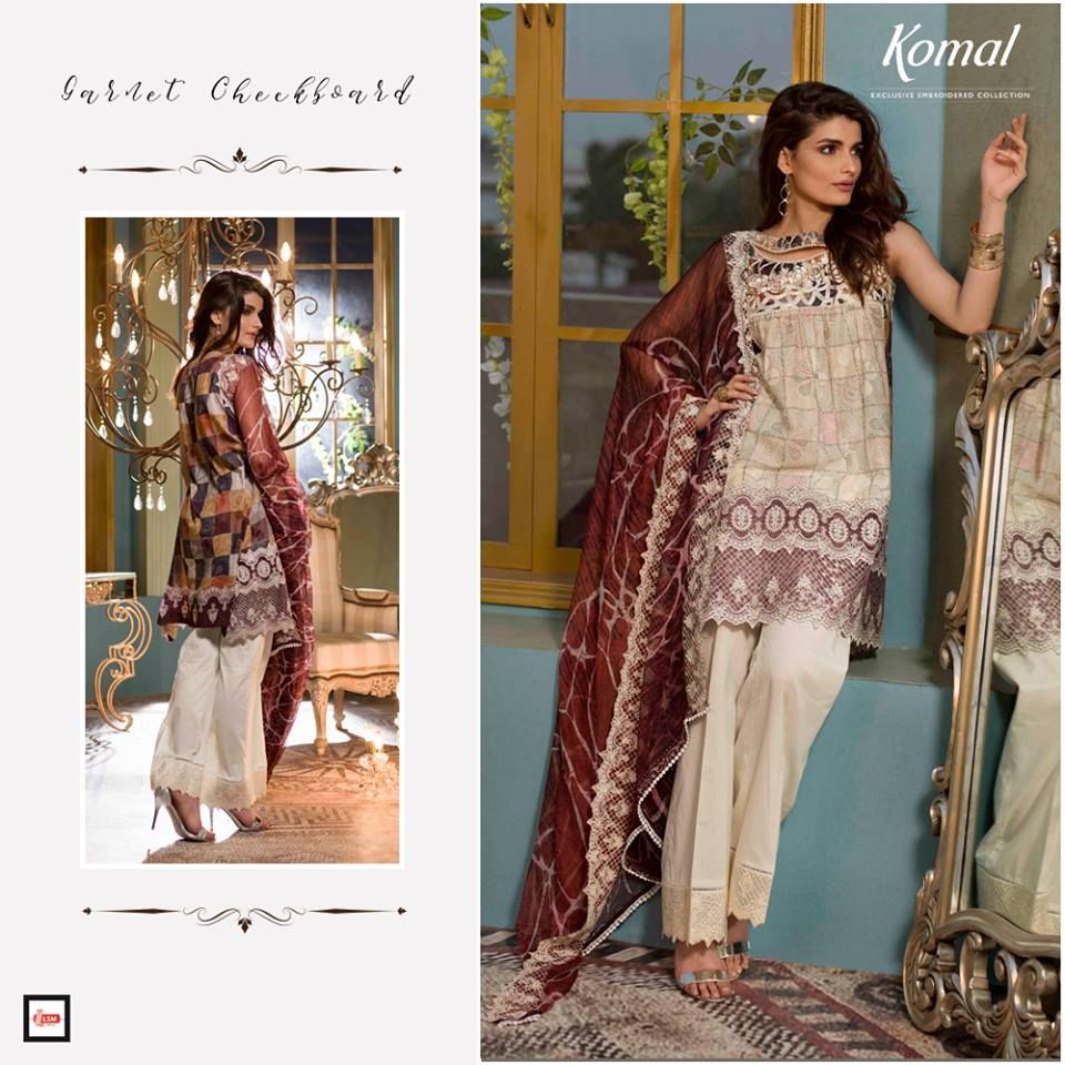 LSM Fabrics Komal Autumn Lawn Collection 2017