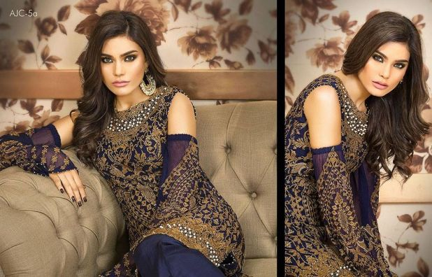 Asmin Jofa Luxury Chiffon Collection Winter Dresses 2018