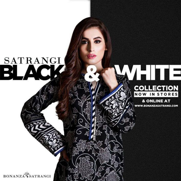 Black & White Bonanza Winter Dresses 2017-18
