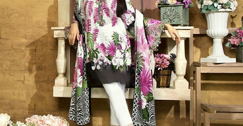 Sapphire Winter Collection Embroidered Dresses 2017-18