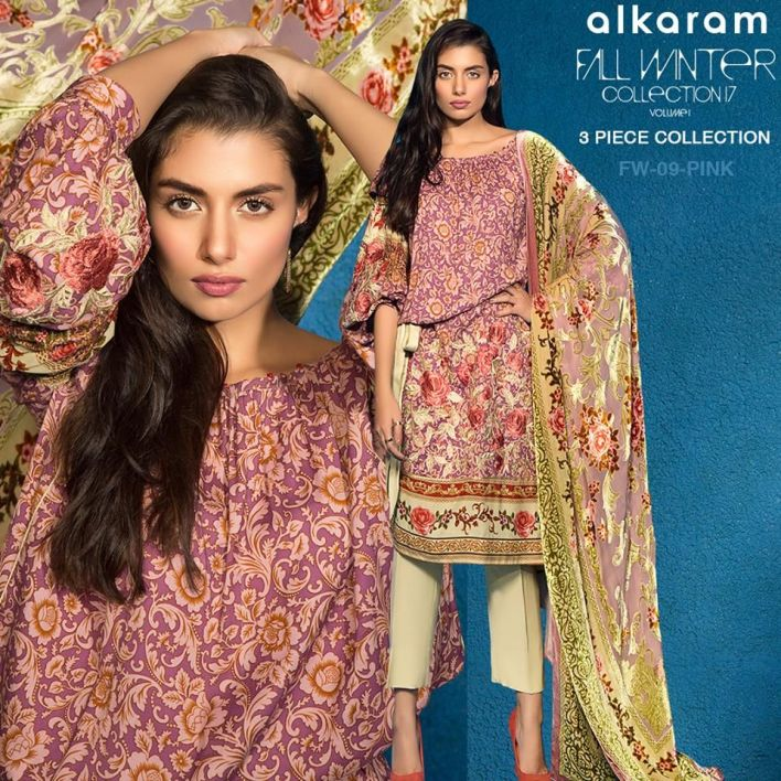 Alkaram Winter 3 Piece Collection Glamorous Dresses 2018