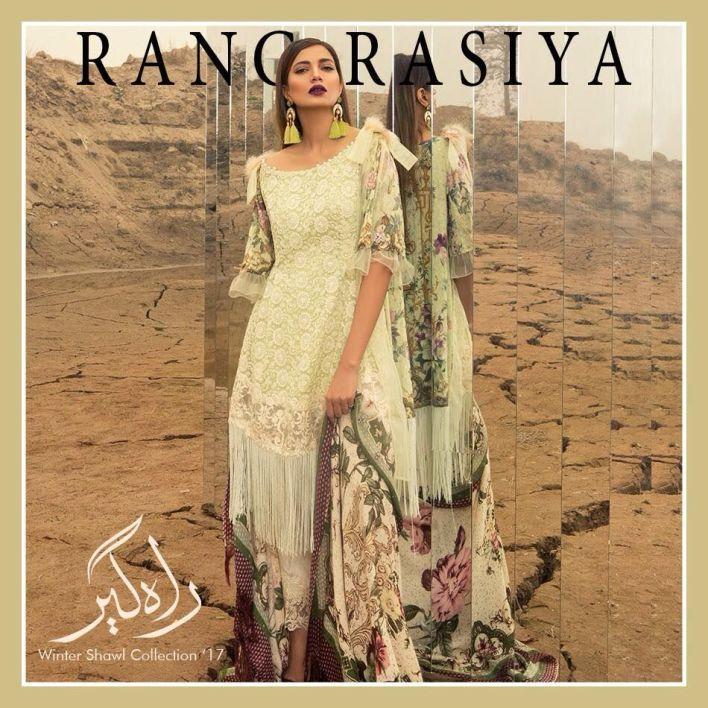 Rang Rasiya Winter Dresses Shawls Collection 2018