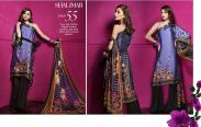 Gul Ahmed Lamis Digital Silk Dresses Collection 2018
