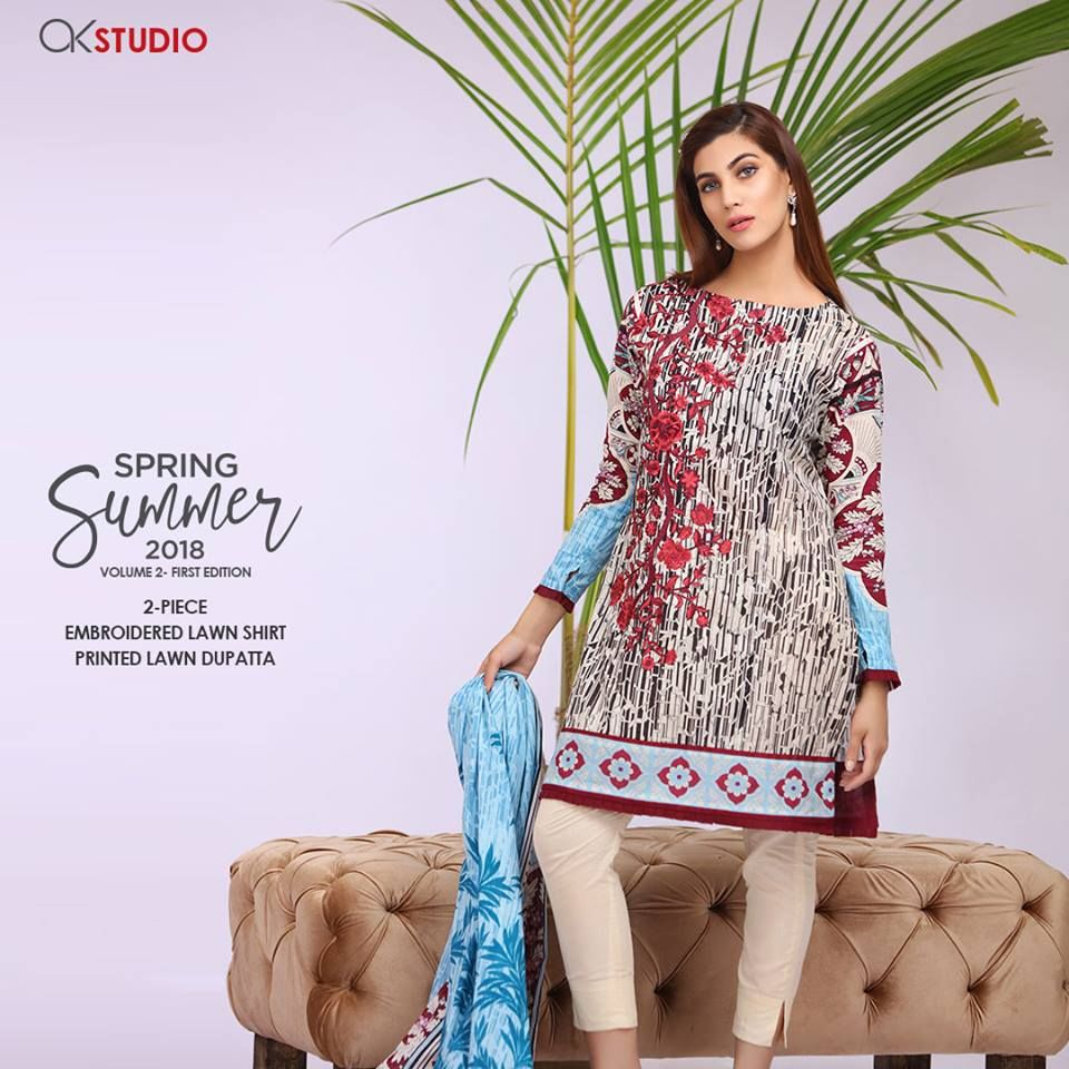 Alkaram Summer Vol-2 Lawn Dresses 2018