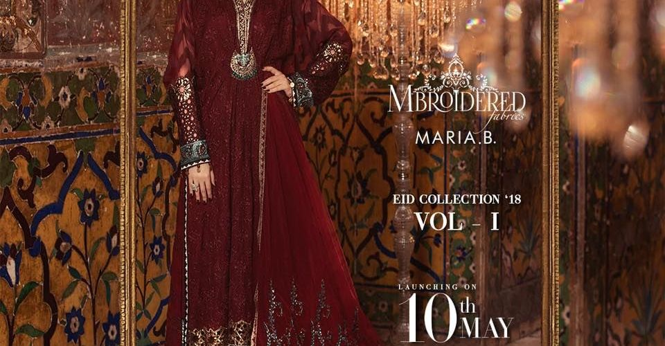 Maria B Mbroidered Eid Collection Silk Lawn Chiffon Dresses