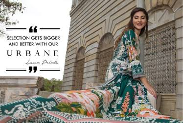 Firdous Cloth House Urbane Lawn Collection 2018