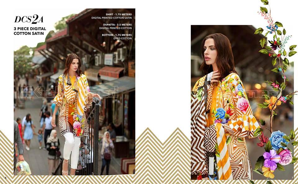 Gul Ahmed Digital Cotton Satin Ideas Collection
