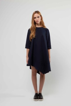 Kirsty Trapeze Dress with Square Hem Panel Detail £325