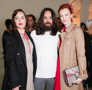Dakota Johnson, Alessandro Michele, Karen Elson