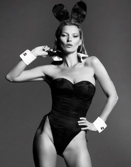 NO SALES, NO ARCHIVE CAN ONLY BE USED IN CONNECTION WITH 60th ANNIVERSARY EDITION OF PLAYBOY MAGAZINE. MANDATORY CREDIT: Courtesy Mert Alas and Marcus Piggott for Playboy. Playboy Enterprises undated handout photo of Kate Moss as she appears in the January/February 2014 double issue of Playboy magazine, to kick off its year-long 60th anniversary celebration. PRESS ASSOCIATION Photo. Issue date: Monday December 2, 2013.Playboyís 60th anniversary edition shows Moss in an unprecedented 18-page pictorial and cover appearance photographed by Mert Alas and Marcus Piggott. See PA story SHOWBIZ Moss. Photo credit should read: Courtesy Mert Alas and Marcus Piggott for Playboy/PA Wire NOTE TO EDITORS: This handout photo may only be used in for editorial reporting purposes for the contemporaneous illustration of events, things or the people in the image or facts mentioned in the caption. Reuse of the picture may require further permission from the copyright holder.