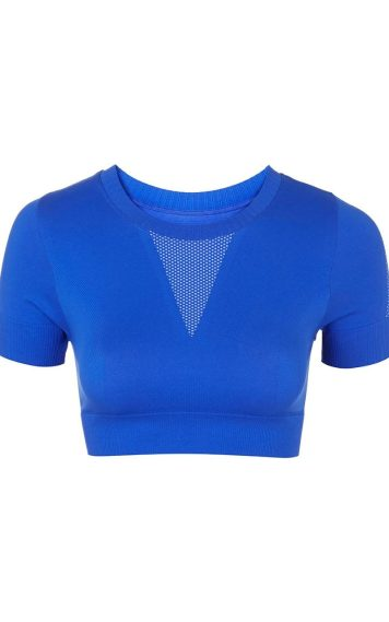 Seamless crop crew neck tee, £20