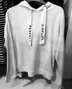 H&M Sports Luxe Sweater Silverlink