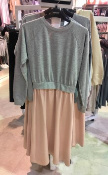 Topshop layered dress sports luxe