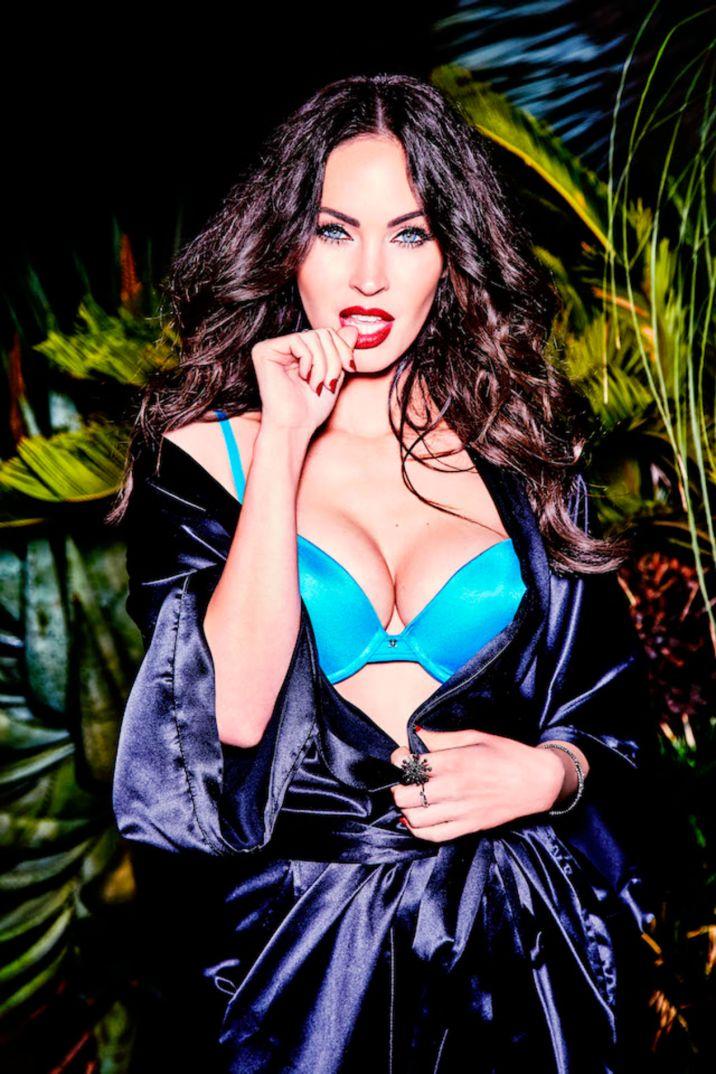 Megan Fox Fredericks of Hollywood Blue bra
