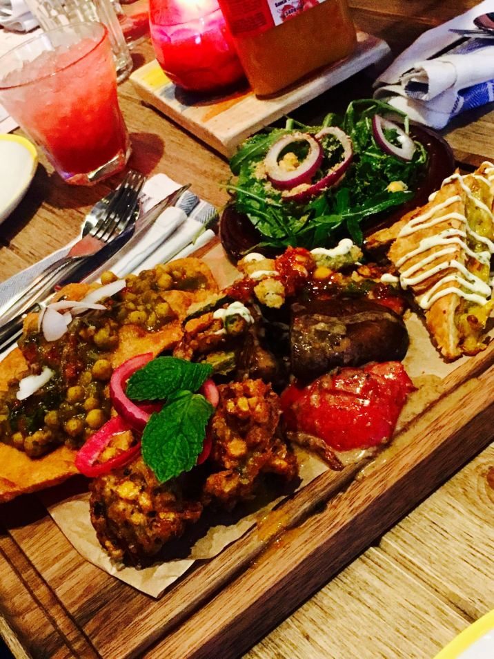 Turtle Bay Middlesbrough Sweetcorn Fritter Platter