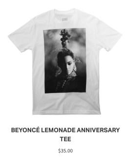 Lemonade Anniversary Merch Beyonce Tee