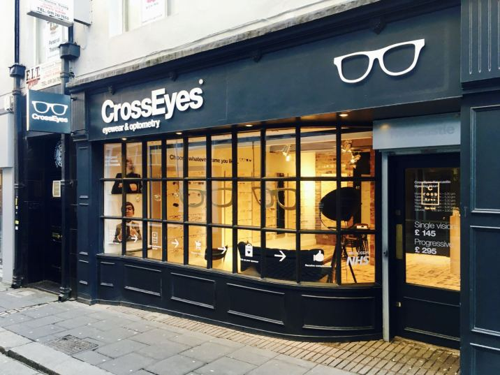 Crosseyes Newcastle shop front