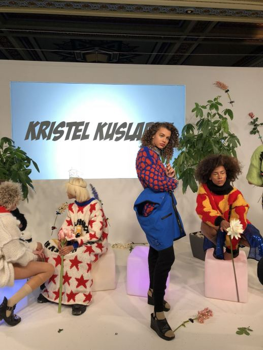 Kristel Kuslapuu FW18 Presentation at London Fashion Week Group shot of models