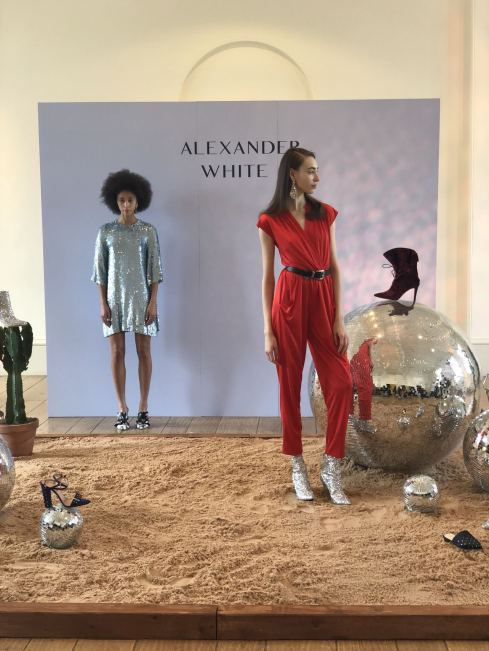 Alexander White FW18 Presentation London Fashion Week front view of presentation board