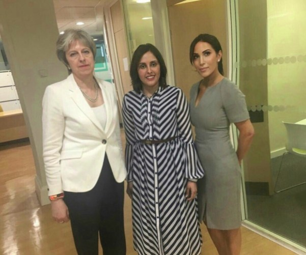 Dr Selena Langdon, Theresa May and Antonia Mariconda following a meeting to discuss the importance of the Safety in beauty campaign to the aesthetics industry