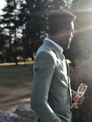 Duke Ata wearing Duke Ata Bespoke, shot taken by Pixie Tenenbaum using the iPhone X