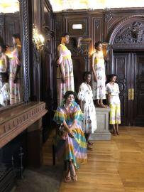 Tata Naka Presentation Models on show at Dartmouth House at London Fashion Week for SS19 Fashion Voyeur Blog