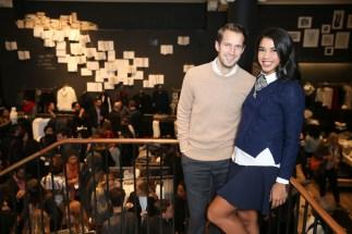 Banana Republic Celebrates Holiday with Hannah Bronfman and Brendan Fallis in NYC