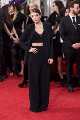 Lorde in Narciso Rodriguez and Neil Lane jewelry