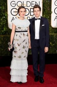 Kiera Knightley in Chanel and musician James Righton