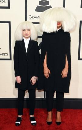 Sia and Maddie Ziegler in Giorgio Armani