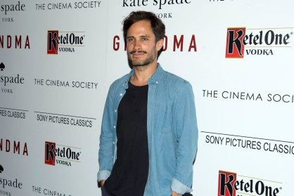"Gael Garcia Bernal== The Cinema Society and Kate Spade host a screening of Sony Pictures Classics ""Grandma""== Landmark Sunshine Cinema, NYC== August 18, 2015== ©Patrick McMullan== Photo - Clint Spaulding/PatrickMcMullan.com== =="
