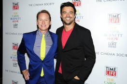 "Carson Kressley, ?==Time Life and The Cinema Society host a screening of ""The Carol Burnett Show: The Lost EpisodesÓ==Tribeca Grand Hotel, NYC==September 17, 2015==©Patrick McMullan==Photo - Paul Bruinooge/PatrickMcMullan.com===="