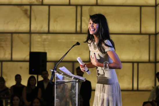NEW YORK, NY - SEPTEMBER 10: Goga Ashkenazi speaks onstage during The Daily Front Row's Third Annual Fashion Media Awards at the Park Hyatt New York on September 10, 2015 in New York City. (Photo by Larry Busacca/Getty Images for The Daily Front Row)