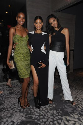 NEW YORK, NY - SEPTEMBER 10: (L-R) Models Arlenis Sosa, Cris Urena, and Cora Emmanuel attend The Daily Front Row's Third Annual Fashion Media Awards at the Park Hyatt New York on September 10, 2015 in New York City. (Photo by Rommel Demano/Getty Images for The Daily Front Row)