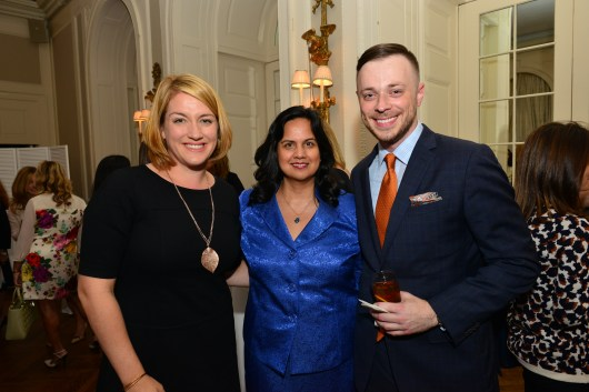 Alexis Eggleton, Sharmila Makhija, Daniel Ginn== Women's Voices for Change Luncheon in honor of Christy Turlington Burns, 2015 Champion For Change== Private Manhattan Club, NYC== September 21, 2015== ©Patrick McMullan== Photo - Jared Siskin/patrickmcmullan.com==