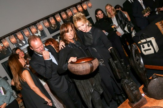 Sting, Donna Karan, Trudie Styler==Donna Karan's 'My Journey' book release party==Urban Zen, NYC==October 14, 2015==©Patrick McMullan==photo - J Grassi/PatrickMcMullan.com====