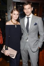 "Olivia Palermo, Johannes Huebl== Champagne Bollinger with The Cinema Society host a party for ""Spectre""== The Lion, NYC== November 5, 2015== ©Patrick McMullan== Photo - Clint Spaulding / PMC== =="